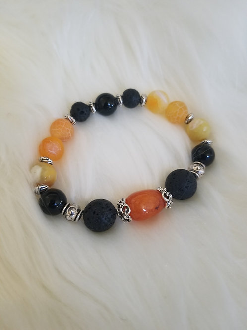 Gem Stone  / Lava Rock Bracelet