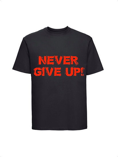 Maglia Nera Never Give Up Unisex 2021