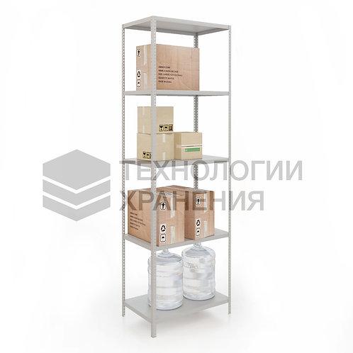 Стеллаж для гардеробной, полочный 2500х1000х600 (5полок)