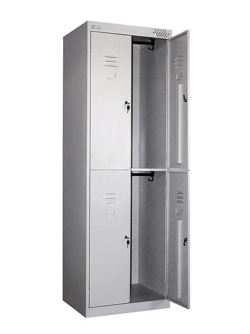 Металлический шкаф для одежды ШРК-24-600 (4 секц.)