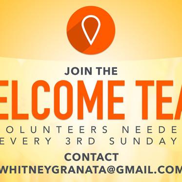 Welcome Team Volunteers Needed!