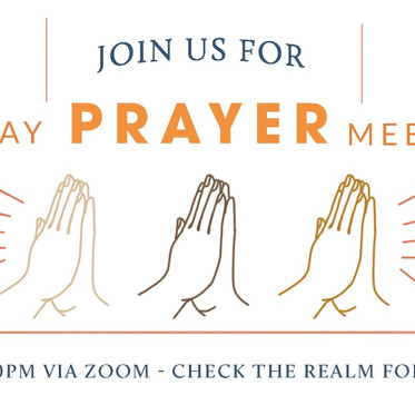 Tuesday Zoom Prayer Meetings