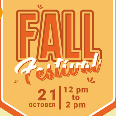 Fall Festival - New Date and Time!