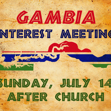 Gambia Interest Meeting