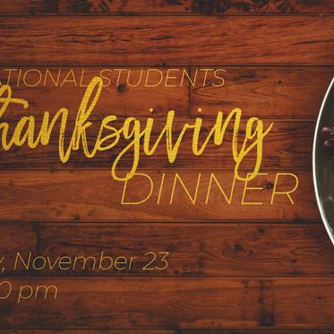 International Students Thanksgiving Dinner