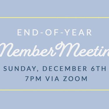 End-of-Year Member Meeting