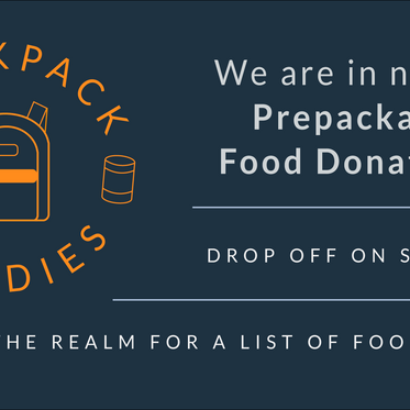 Backpack Buddies: Food Donations Needed
