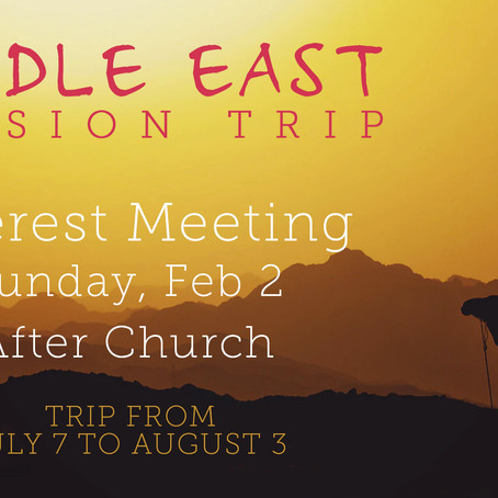 Middle East Mission Trip