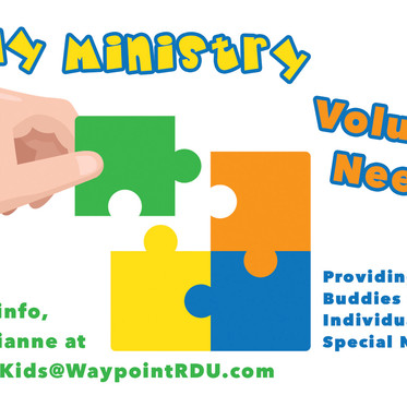 Buddy Ministry Volunteers Needed!