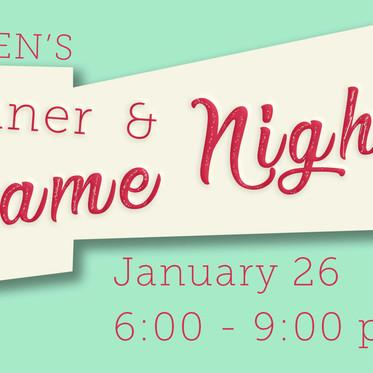 Women's Dinner and Game Night
