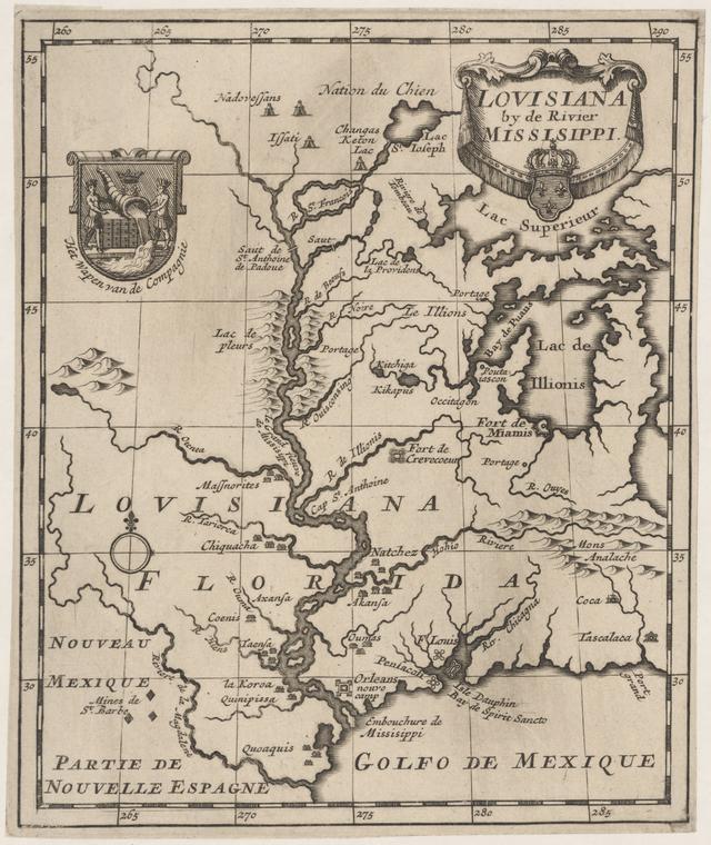 1720 - Lovisiana by de Rivier Missisippi