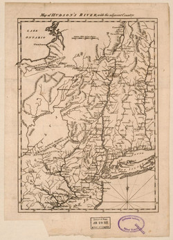 1777 - Map of Hudson's River, with the adjacent country