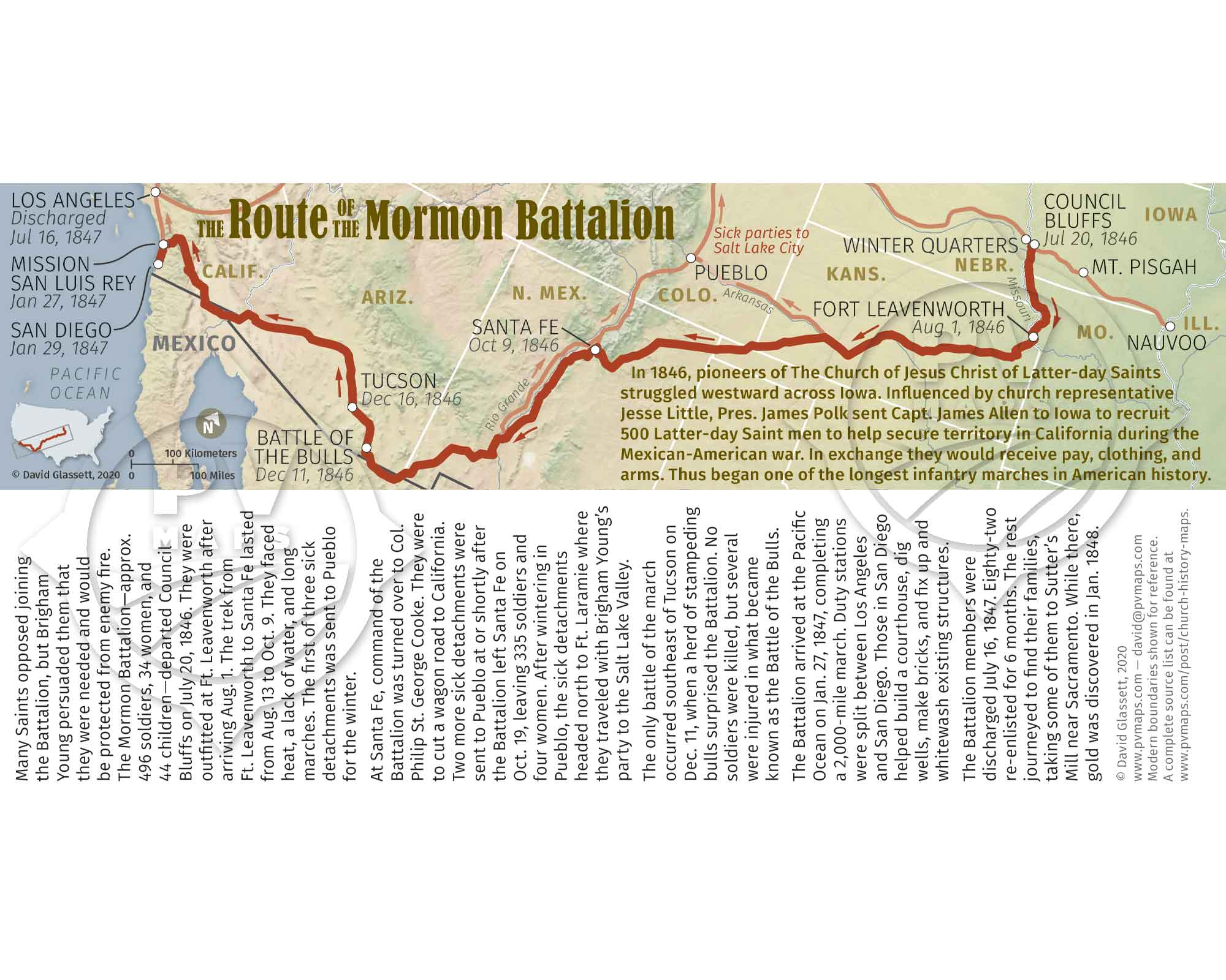 The Route of the Mormon Battalion Bookmark