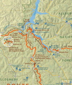 Allegheny Mountains Adventure Route