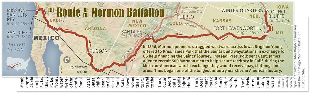 Mormon Battalion Map Book Mark