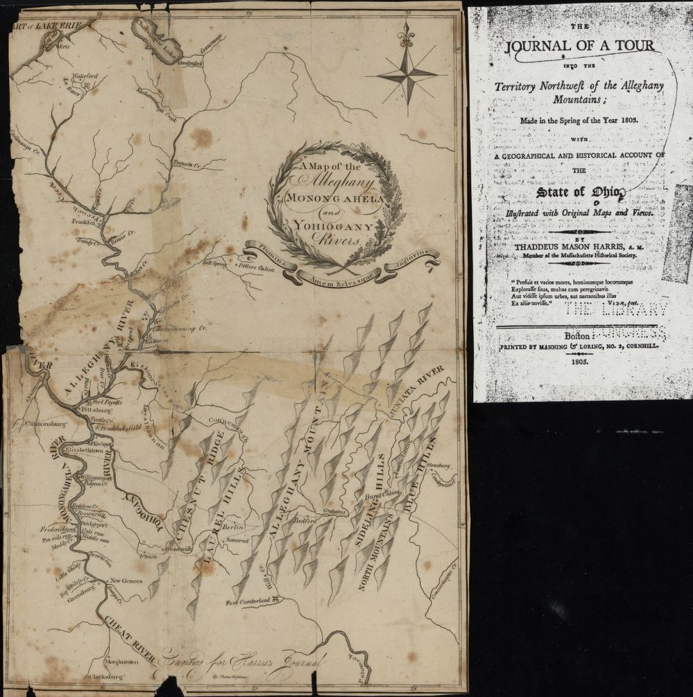1805 - A map of the Alleghany, Monongahela, and Yohiogany rivers