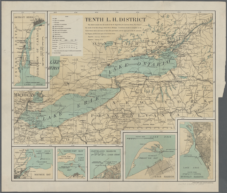 1898 - Tenth Lighthouse District