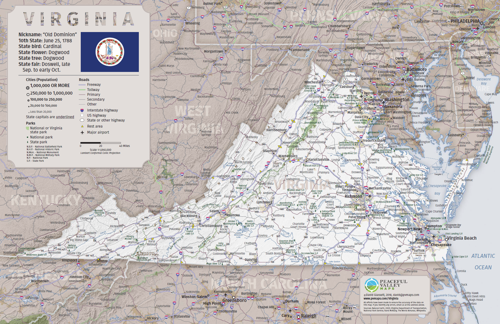 Virginia Road Trip Map