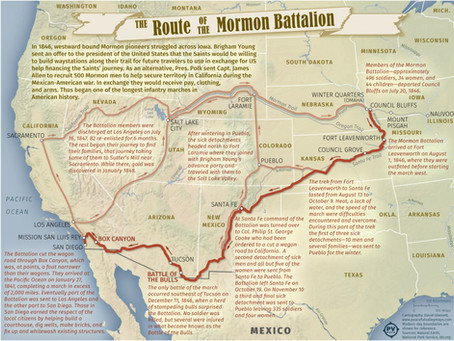 The Route of the Mormon Battalion