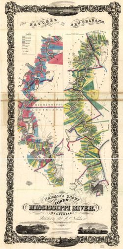 1858 - Norman's chart of the lower Mississippi River
