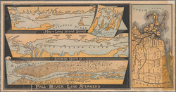 1880 - Long Island Sound and routes of Fall River Line Steamers