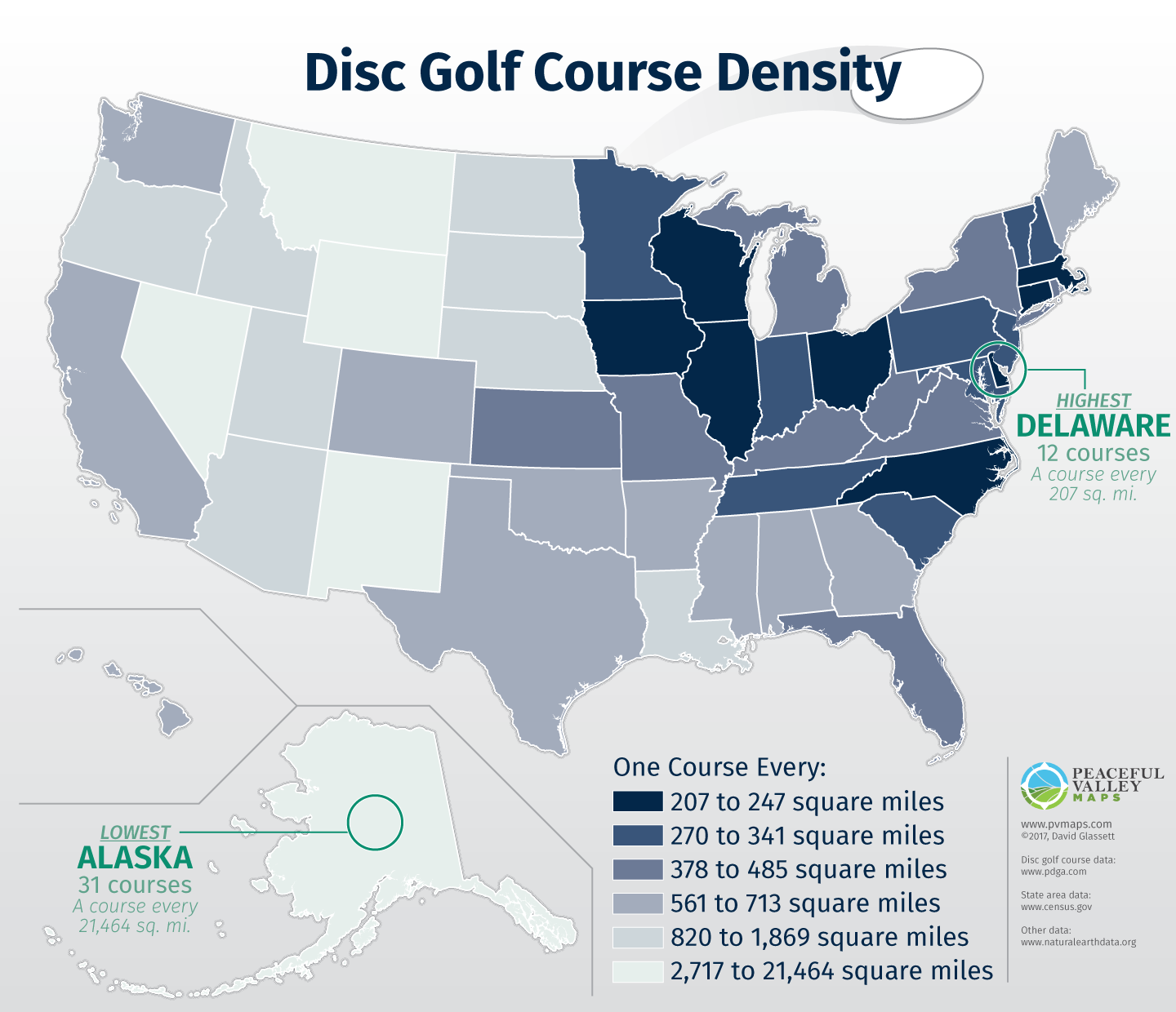 Disc Golf Course Density