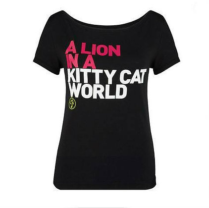 A LION IN KITTY CAT WORLD TEE