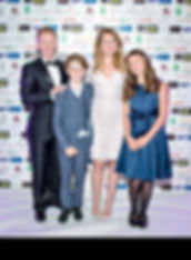 Clive, Michelle and thier children at the Yorkshire Choice Awards where Clive Wilkinson Caterin were finalists in 2 catergories
