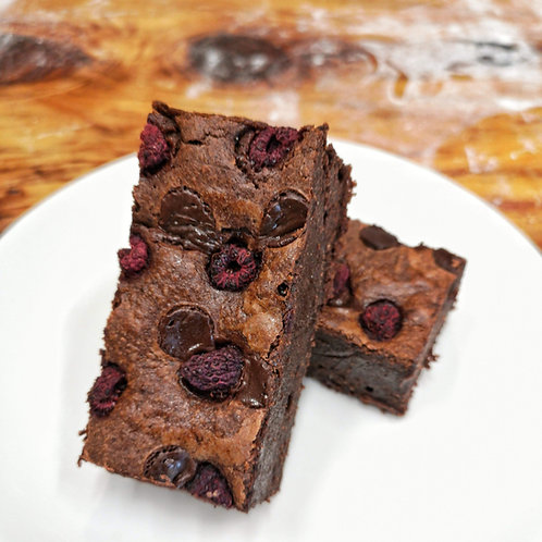 Chocolate & Raspberry Brownie (GF)