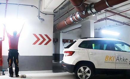 LED Beleuchtung Parkhaus, Tiefgarage, Parkplatz,