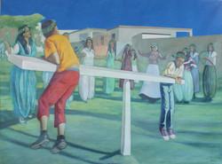 Zhamballa 150x207 cm Oil on Canvas