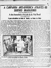 Campanha anti-ophidica através os sertões brasileiros