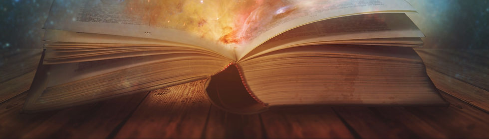 Book of the universe - opened magic book with planets and galaxies_edited.jpg