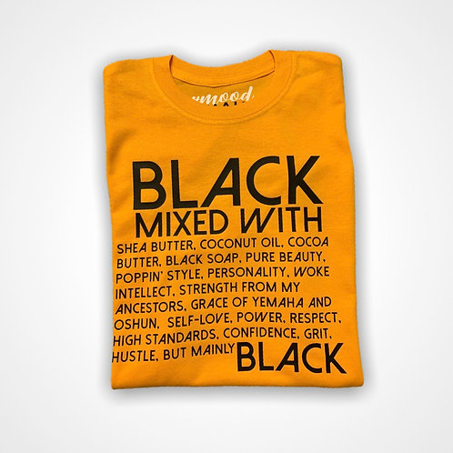 BLACK MIXED WITH | Tee