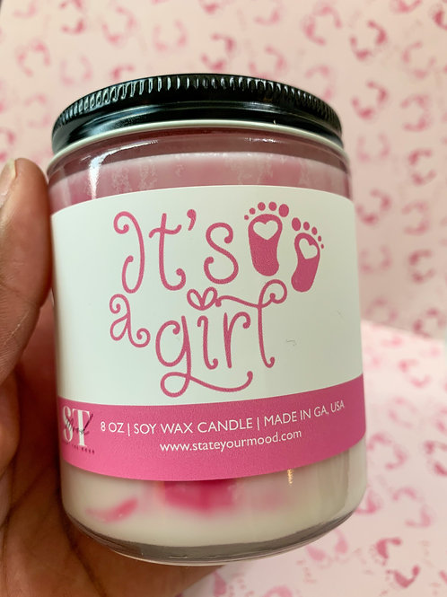 It's a Girl 8oz Candle