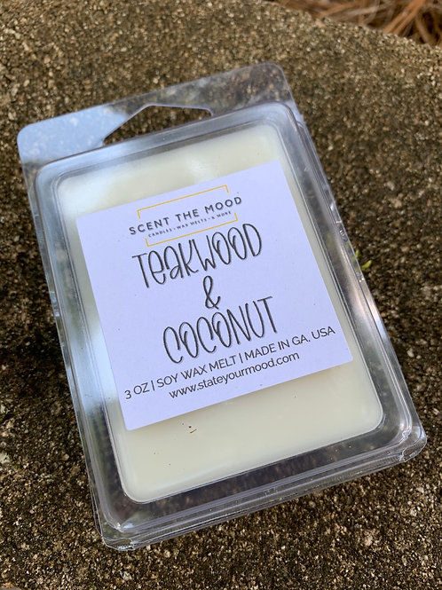 TEAKWOOD & COCONUT Wax Melts