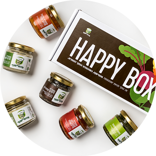 HappyBox - מיקס 8 ממרחים (90 גרם) במארז אחד