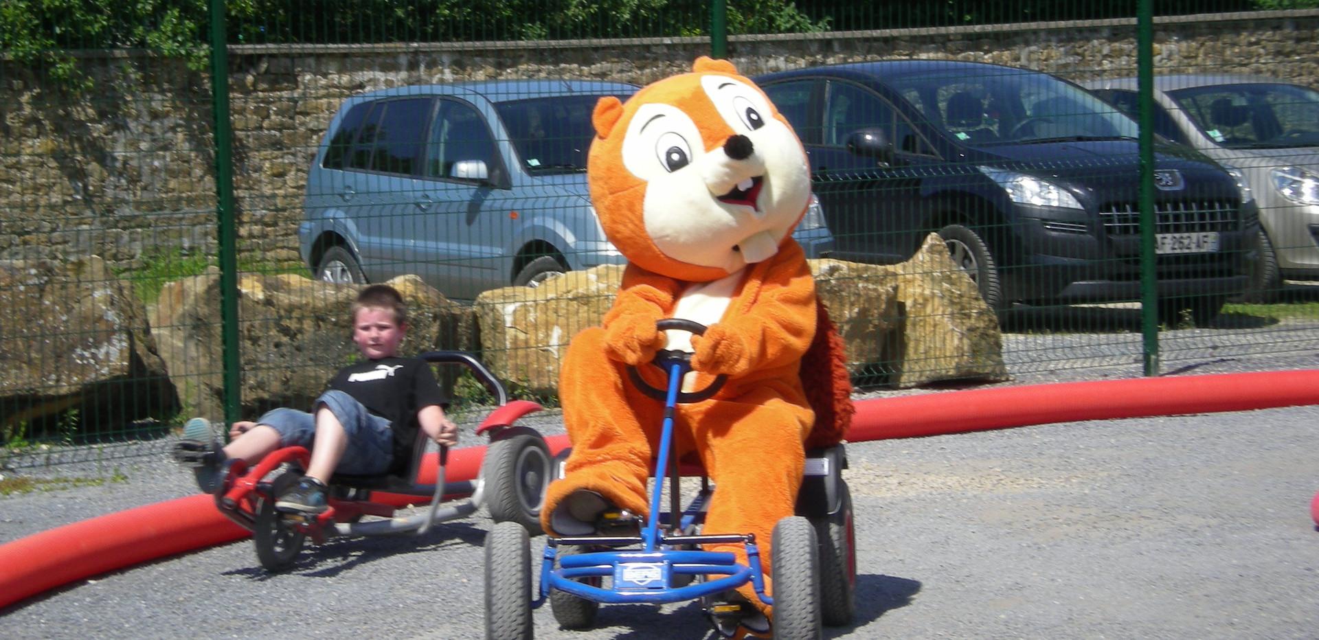 Extérieur, karting