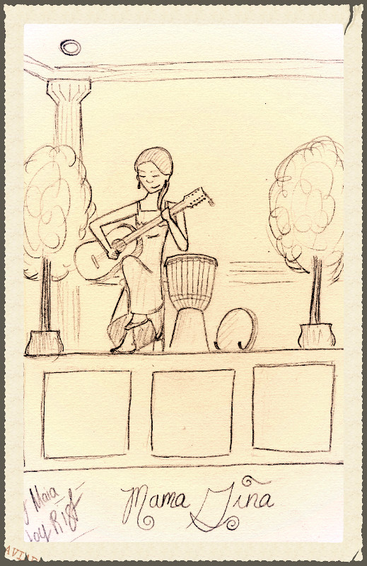I sing - Maia sketches - we inspire each other!  Thank you Maia!