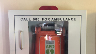 Defibrillator (AED - Cardiac Science Unit) to assist in emergency situations