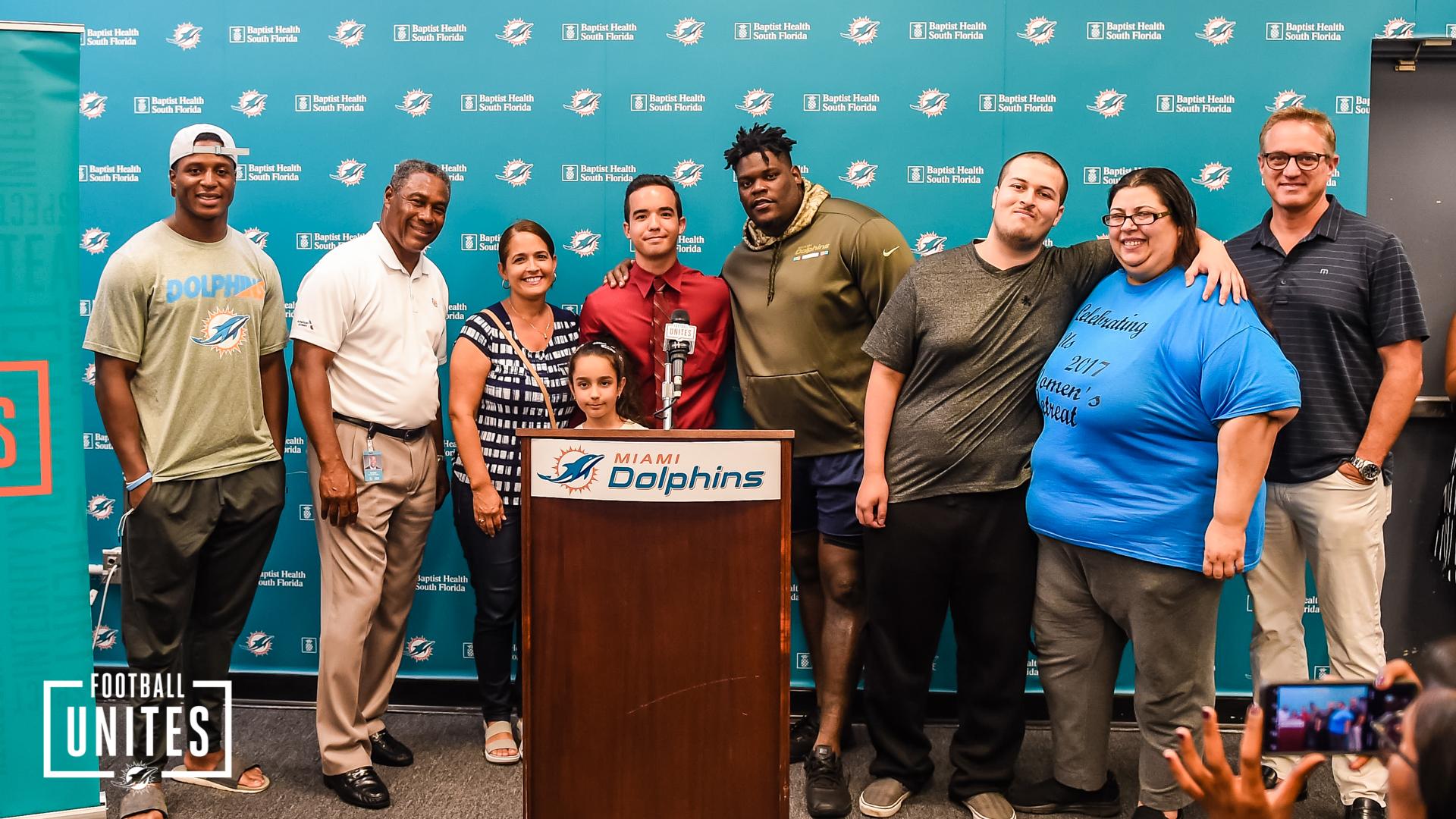 Miami Dolphins CEO Tom Garfinkel, SVP Na