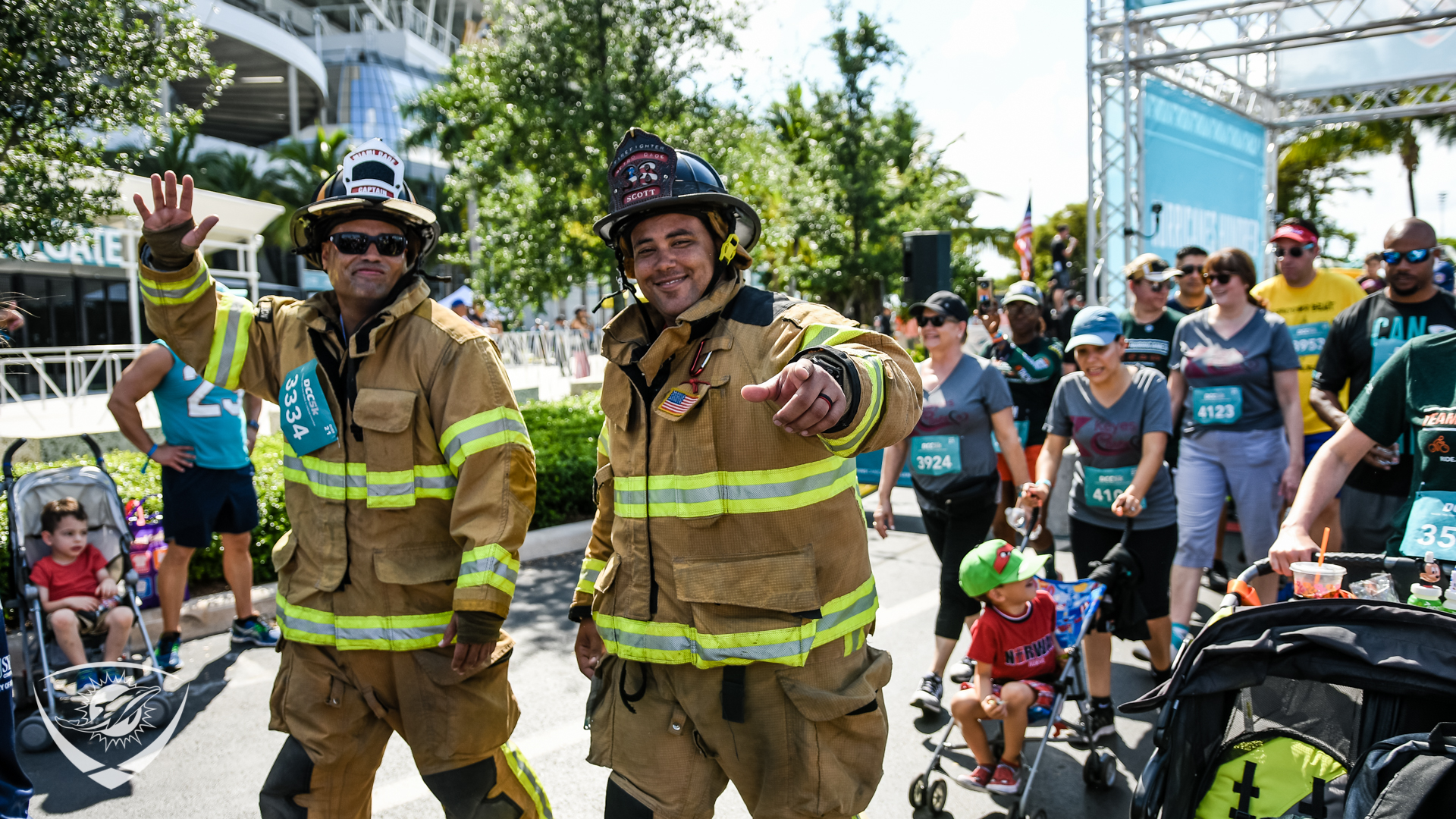 Firefighters at the DCC 5K