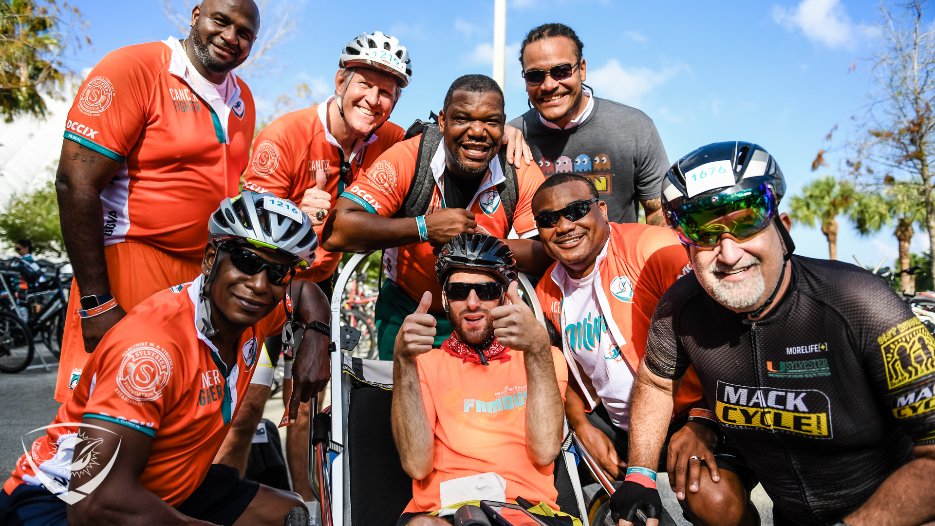 Dolphins alumni at Dolphins Cancer Chall