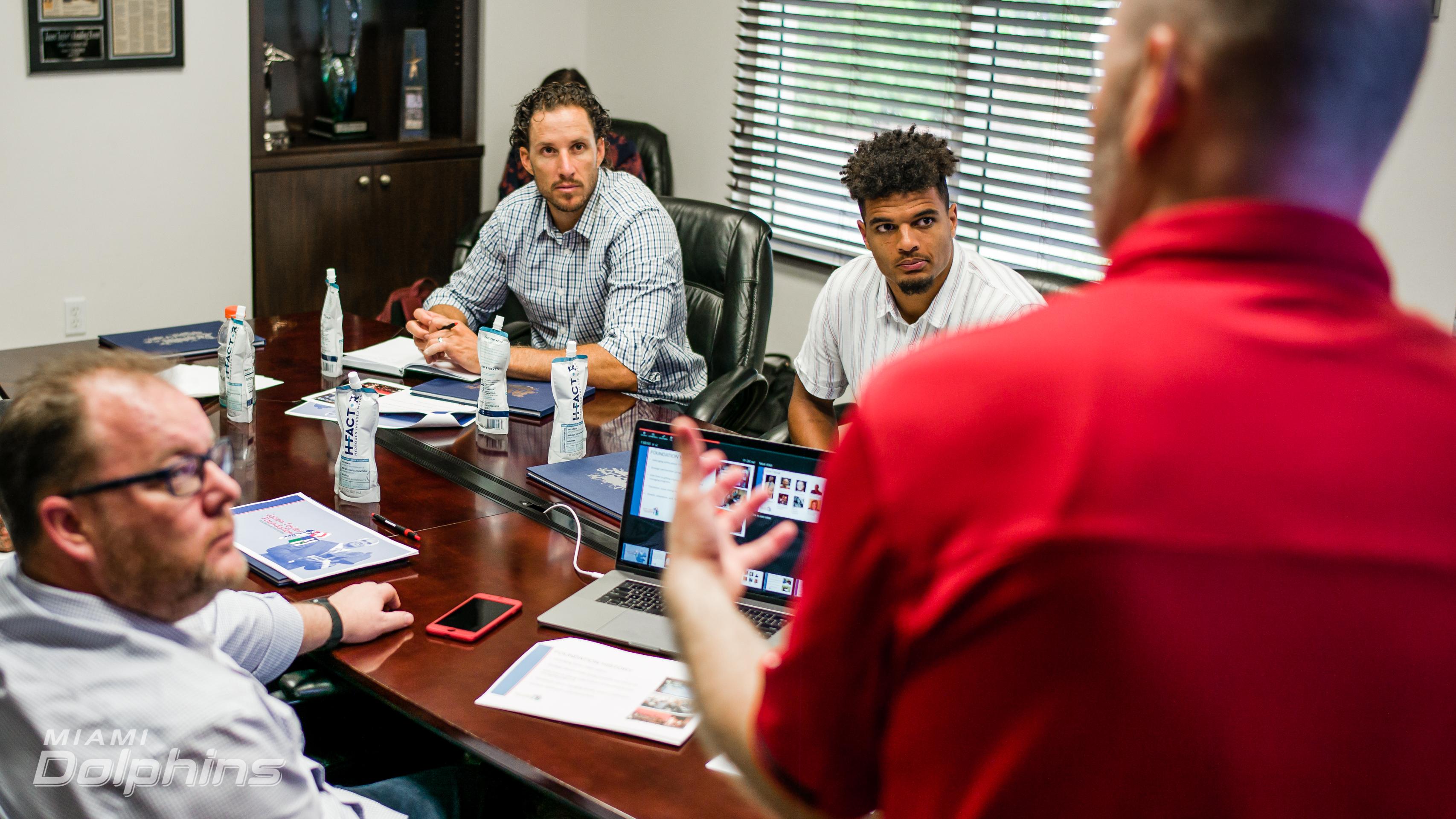 Dolphins Business Combine talks athlete