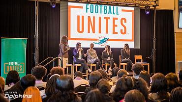 Miami Dolphins Football Unites Hosts Wom