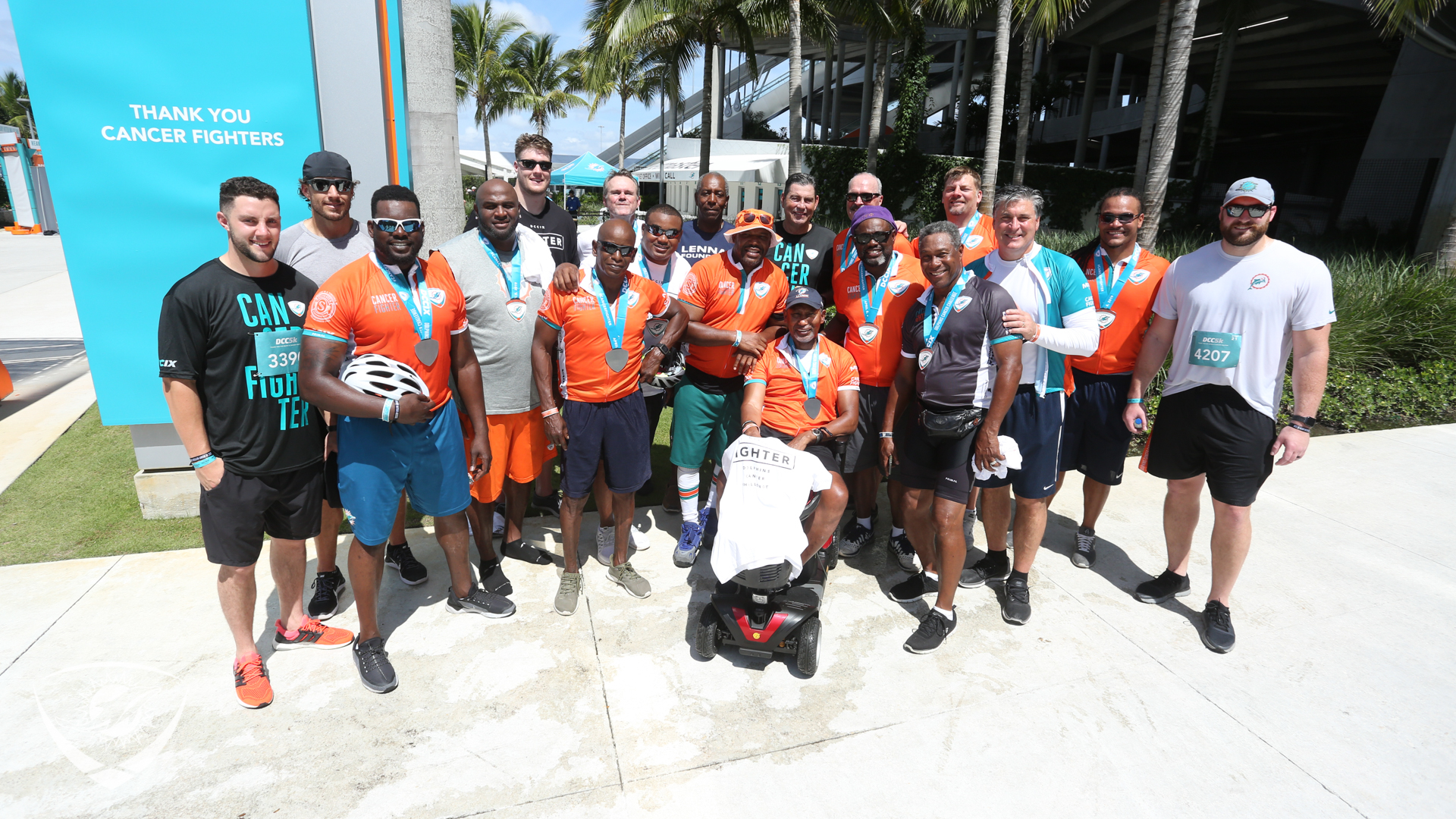 Dolphins current and former players at t