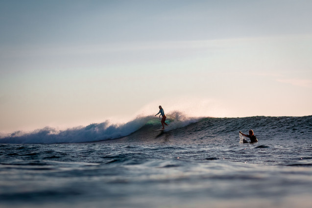 Indonesian glassy waves