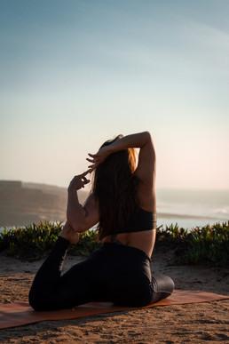 Yoga in sunset