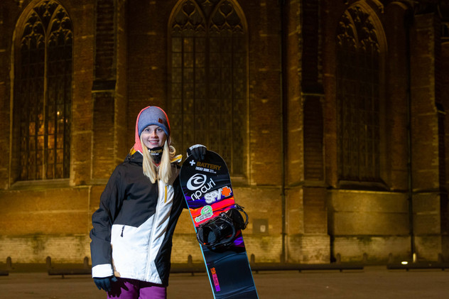 Lifestyle Portrait of a Snowboarder