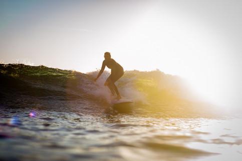 Longboarding in the sunset